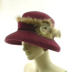 Vintage Hat Styles for Women | Felt Wide Brim Hat for Women 1920s Fashion by TheMillineryShop, $290 ...