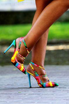 Teresa Quiroga - High heels Rainbow