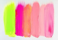 Color Palettes. The neon pink and yellow are nice pops to go with neutral tones.