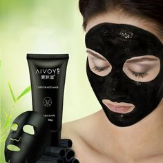Ladies Face Mask AFY Suction Black Mask Deep Cleansing Tearing Blackhead Remover 60ML