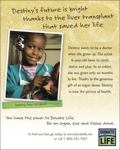 April is Donate Life month. Register to give the Gift of Life!