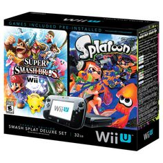Nintendo Wii U Splatoon and Super Smash Bros Console Deluxe Set, Black Wii U, Nintendo Wii, Super Smash Bros, Technology Gifts, Mario Kart 8, Tech Gifts, Christmas 2015, Holiday, Video Game Console