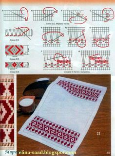 Cross Stitch World: CROSS STITCH:_ Napkin (Салфетка) #3