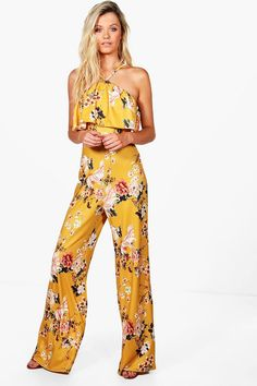 5a1ca91e0b Jasmine Floral Wide Leg Jumpsuit 70s Inspired Fashion