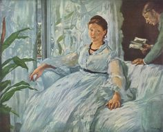 The Reading (Manet painting) - After the death of his father in 1862, Manet married Suzanne Leenhoff in 1863. Leenhoff was a Dutch-born piano teacher of Manet's age with whom he had been romantically involved for approximately ten years. Leenhoff initially had been employed by Manet's father, Auguste, to teach Manet and his younger brother piano. She also may have been Auguste's mistress. In 1852, Leenhoff gave birth, out of wedlock, to a son, Leon Koella Leenhoff.  Eleven-year-old Leon…