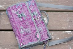 Sara from Sew Sweetness made this amazing hanging cosmetics bag using a Craftsy tutorial by Annie from By Annie's Soft and Stable, fabric by Katarina Roccella for Art Gallery Fabrics and 40wt #Aurifil thread.  To see more please visit https://sewsweetness.com/2014/11/annie-hanging-cosmetics-bag.html