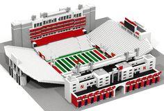 Nebraska Memorial Stadium LEGO model by StadiumBrick on Etsy, $400.00