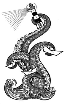Lighthouse Art Print by María Nikólskaya | Society6