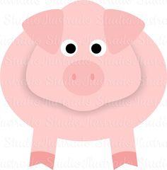 View Design: cute pig, porco, silhouette