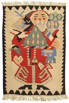 "Kilim & Flatweave 3' 9"" x 2' 9"" Vintage Turkish Kilim at Persian Gallery New York - Antique Decorative Carpets & Period Tapestries"