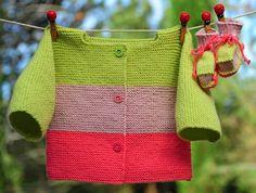 layette ensemble rose et anis 3 mois brassière et chaussons neuf tricoté main : Mode Bébé par com3pom
