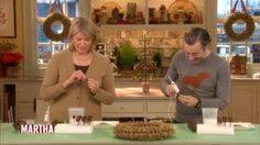 Scottish actor Alan Cumming joins Martha Stewart to craft a sweet-gum wreath. It's a perfect way to add glitter to your home for the holidays.