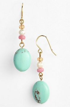 Lauren Ralph Lauren Beaded Drop Earrings available at #Nordstrom