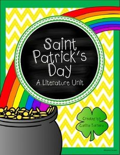 St. Patrick's Day Literature UnitThis would be a great addition to your St. Patrick's Day fun! Students will love learning about the story behind this famous holiday. Included in this pack:The History of St. PatrickThe History of St. Patrick Comprehension QuestionsSt.