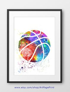 Basketball-Print No2 Sport-Wand-Kunst Sport Basketball