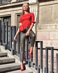 Envy Fashion Leather Skirts, Leather Pants, Short Tops, Short Skirts, Envy, Shorts, Outfit, Women, Fashion