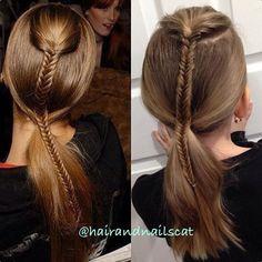 Hair braid inspo from FW.