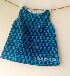 Made to Order  Blue Toddler Tunic Dress   Children by chezvies, $15.00
