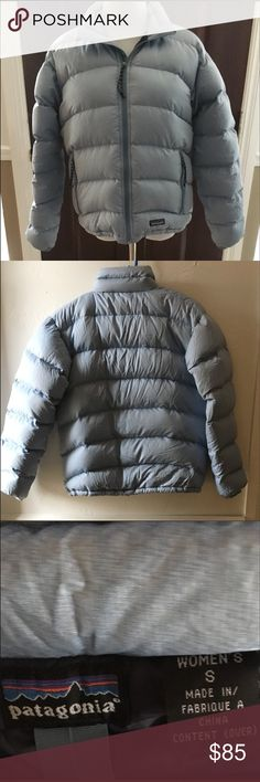 Patagonia down jacket This pale blue jacket is in excellent used condition without flaws! Will definitely keep you warm this winter! Patagonia Jackets & Coats Puffers
