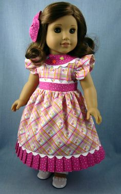 18 Inch Doll Clothes   Pink Floral Dress and by SewMyGoodnessShop, $23.00