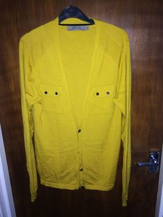 REISS Men s Button Front Cardigan Size M Medium 100 % Merino Wool   £9.99 (1B)