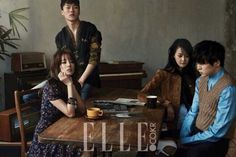 The cast of the upcoming Korean webtoon drama ' We Broke Up' is being featured in the current issue of the fashion publication Elle Magazine. The photos feature Dara, WINNER's Kang Seung Yoon, and fellow co-stars Jang Ki Yong, and Kang Seung Hyun. Kang Seung Yoon, Creative Shot For Graduation, Sandara Park 2015, Seungyoon Winner, 2ne1 Dara, Photo Scan, We Broke Up, Brown Eyed Girls, K Pop Star