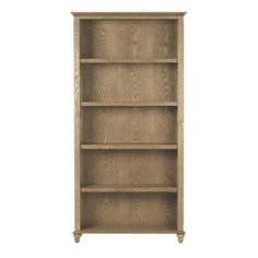 Home Decorators Collection Shutter 5-Shelf Open Bookcase in Weathered Oak-1061100410 - The Home Depot