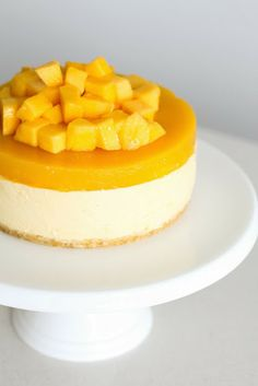 dessert recipes with mascarpone cheese, easy healthy desserts recipes, italian desserts recipes - Mango Cheesecake for Christmas - Green Cilantro ---- No bake (uses gelatin) & measurements are all metric No Bake Desserts, Just Desserts, Delicious Desserts, Yummy Food, Italian Desserts, Healthy Desserts, Mango Dessert Recipes, Healthy Foods, Mango Cheesecake