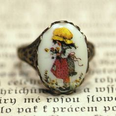 Items similar to Holly Hobby Ring on Etsy Hobbies For Men, Great Hobbies, Vintage Love, Retro Vintage, Sarah Kay, Holly Hobbie, Oldies But Goodies, Cute Illustration, Paper Dolls