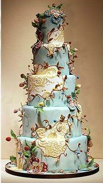 fun whimsical cake, can be redone in different colors, very Tim Burton-esque, #weddingcake #whimsical