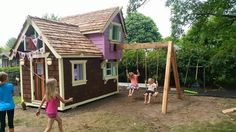"""Leavitt worked as a landscaper for eight years before starting Charmed Playhouses. """"One thing that I noticed is that in all these yards there were never really spaces that kids could go and enjoy,"""" he told BuzzFeed Canada."""