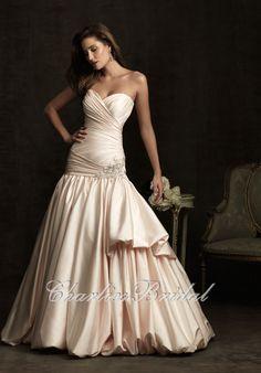 Ball Gown Sweetheart Chapel Train Satin Wedding Dress