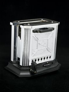 All these eggs call for a side of toast. This 1930s toaster by Hotpoint Edison General Electric has Art Deco details.