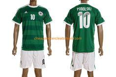 82e3c4948 cheap adidas Germany National team 2012-2013 Lukas Podolski number 10  soccer jerseys away green