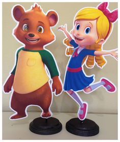 Goldie and Bear Birthday Party Centerpieces by TriniGirlTreats