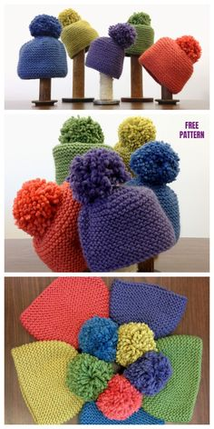 Simplest Garter Stitch Hat Free Knitting Pattern This easiest of hats has large influence when topped with a fluffy pom pom. Fast to knit, within the spherical or labored flat and seamed, cumbersome . Baby Knitting Patterns, Crochet Amigurumi Free Patterns, Baby Hats Knitting, Free Knitting, Knitted Hats, Crochet Hats, Sock Knitting, Sweater Patterns, Knitting Tutorials