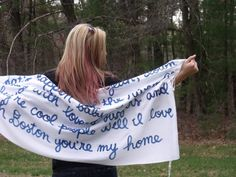 Lyrics to Boston You're my home on a scarf!
