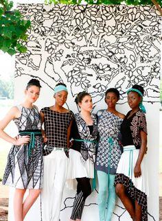 Baobab at Rural to Ramp Swaziland 2013 Hand Printed Fabric, Mustard Seed, Fair Trade, Carpets, Fashion Show, Kimono Top, Textiles, African, Pillows