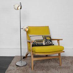 Retro 2 Light Floor Lamp Ivory (and everything-else too please) - £175 (!!). Heals #homewares #lighting