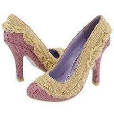 irregular choice heels. Lilac with the frills.