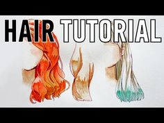 How to paint hair with watercolor tutorial and tips - YouTube