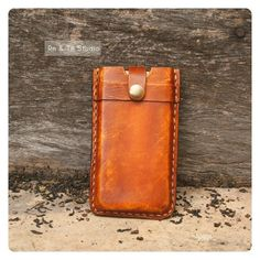 NEW iPhone 5 Leather Case Hand Stitched - Rustic Vintage stlye - Unisex / Men Gift via Etsy