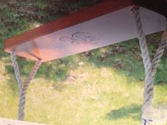 Reclaimed Wood Swing Made By DeKor. See More. Engraved Wood Swing Awesome Ideas