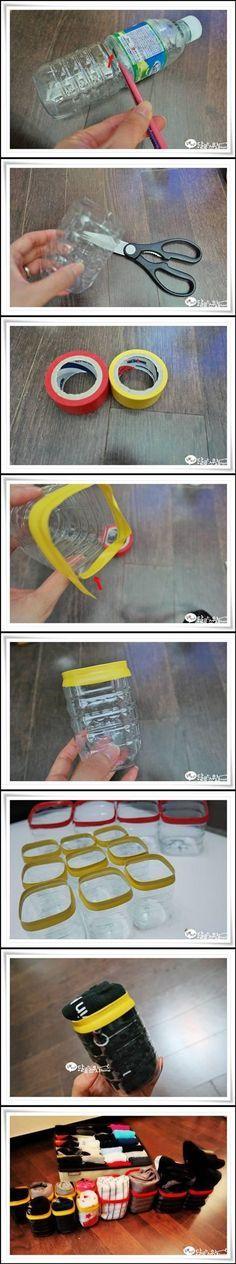 DIY Tutorial DIY Water Bottle / DIY Plastic Water Bottle Underwear Storage Units step by step - Bead&Cord