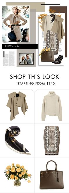 """Fall Wardrobe"" by redflowergirl ❤ liked on Polyvore featuring Burberry, Proenza Schouler, Loewe, Etro, Massimo Dutti, Distinctive Designs, Michael Kors and Rupert Sanderson"