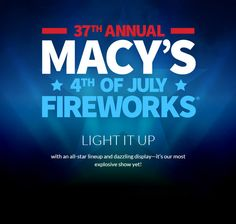 #AliRoSummer100 Macy's 37th Annual 4th of July Fireworks will be a a sight to see above the Hudson river!