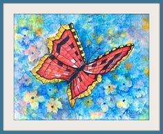 Butterfly Watercolor on Rice Paper by MarthaKislingArt