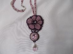 Colier floare roz, by IuliaBijoux, 85 Lei