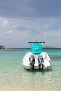 """Fun getaway car idea - speedboat with """"Just married"""" sign {Crown Images photography by Sage}"""