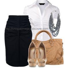 Work Outfits   Balenciaga Pencil Skirt